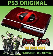 Playstation Ps3 Antiguo forma Deadpool logotipo 02 Merc con una Boca Sticker Skin