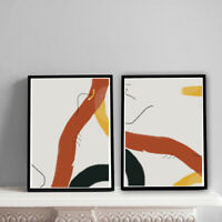 Home Prints A4,Abstract Warm Mustard & Brown Pattern,Gift, Wall Art-NO FRAME
