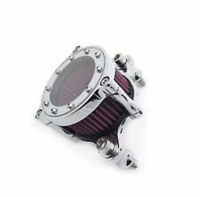 Glass Air Cleaner Intake Filter Kit For Harley Sportster XL883 XL1200 Chrome