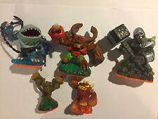 5 SKYLANDERS GIANTS figurines THUMPBACK treerex Crusher Stump Smash & Eruptor