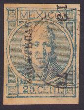 dg11 Mexico #61c 25ctv Thick Carton Paper, Zacatecas 13-70 Sz 1854 est $5+ VF