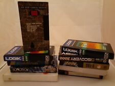 9 Used Blank VHS Video Cassette Tapes and Video Head Cleaner
