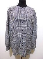 VALENTINO VINTAGE '80 Camicia Donna Seta Blusa Silk Woman Shirt Sz.XL - 48