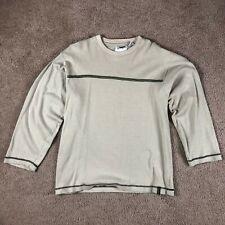 Point Zero Men's Long Sleeve Pullover Sweater 100% Cotton - Size Medium