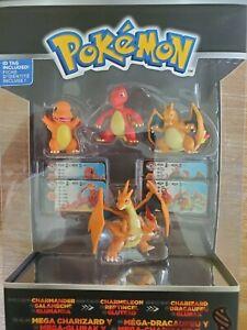 Pokemon Trainer's 1 Choice 4 Figure Charmander Charmeleon Charizard & Mega NEW