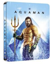 Aquaman Limited Edition Steelbook 3D + 2D Blu Ray