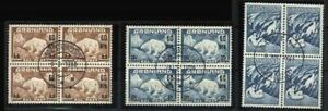 Greenland Sc 39 40 43 Bl of 4 USED  XF See DESCRIPTION SCAN