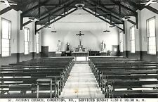 Interior View, St Anthony Church, Camdenton MO RPPC