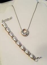Brighton retired Aries pendant necklace & bracelet Swarovski set lot in tin B28