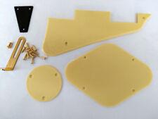Guitare électrique plastique crème + pièces métalliques LP pickguard commutateur plaque support arrière