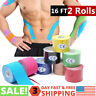 16FT PREMIUM Kinesiology Tape Sports Elastic Physio Therapeutic UNCUT 5-10 Rolls