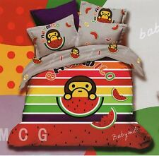 Bedding Quilt Doona Duvet Cover Bed Sheet Pillowcase Set -PAUL FRANK Cute melon