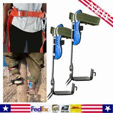 New listing Tree/Pole Climbing Spike, Safety Belt Straps Adjustable Lanyard Rope Rescue Belt