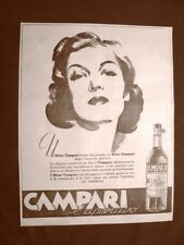 Pubblicità del 1945 Aperitivo Bitter Campari Per la signora moderna Milano