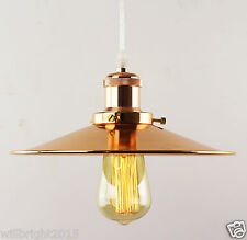 Industrial Retro Vintag Copper Metal Lamp Shade Ceiling Pendant light Chandelier