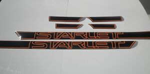 Toyota Starlet KP61 KP62 KP60 5 doors autocollants stickers decals graphics