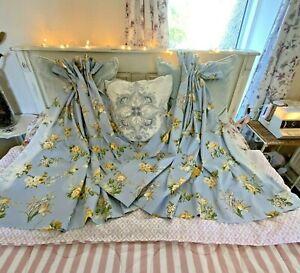 """Harlequin Sandringham Cottage Curtains - Sun Damaged - Floral - 42"""" Long"""