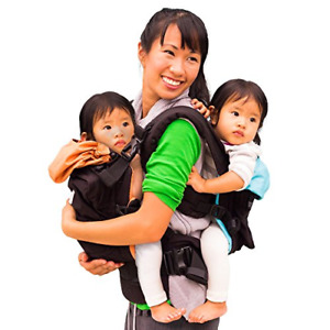 TwinGo Original Baby Carrier- Separates to 2 Single Carriers. Compact, 100% and