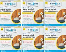 Lidocaine Patch 4% ( 4 x 5.5in ) THERACARE 5 patches / box ( 6 boxes )