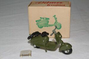 1950's Vilmer Toys Lambretta Military Scooter with Original Box, Nice