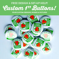 """5 Custom 1"""" inch buttons badge pin punk bands indie pins round pinback"""