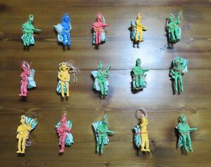 """LOT 15  PARATROOPER Toy Soldier PARACHUTE Mini ARMY MAN 2"""" Vending KIDS Military"""