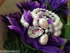 Bracciale Perla Crystal trio Set regalo fidanzata moglie MAMMA MOM MAMMA SORELLA