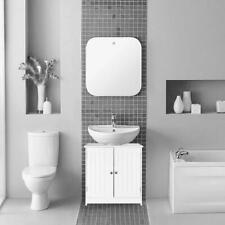 Pedestal Under Sink Storage Floor Cabinet Bathroom Vanity Organizer with 2 Doors