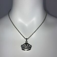 COOKIE LEE Women's Silver Tone Crown Necklace new with tag