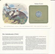 Bird coins of the World-chile 10 centavos 1979 UNC-Andean Cóndor