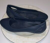 Crocs Iconic Comfort Navy Blue Ballet Flats Women's Size 11 Cut Out Heels