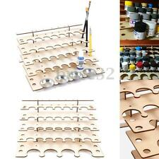 New Wooden Storage Rack For 32 Pots Acrylic Tamiya Paint Hobby Brush Color Plate