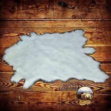 White Tail Deer Skin Accent Rug - Premium Faux Fur - Shag - Hide - Sheepskin