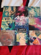 Anthrax Sound Of White Noise Rare 2 Sided Flat Promo Poster 12x12 Thrash Metal