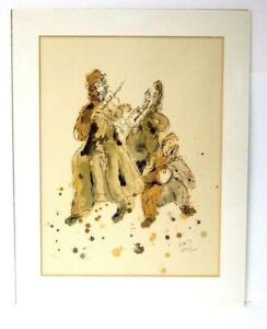 Magnificent Rare Reuven Rubin 20/200 Signed & Numbered Lithograph of Musicians