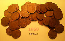 Roll of 1950 King George VI Canada Penny