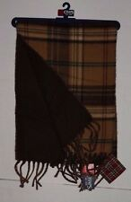 NEW CHAPS LIGHT BROWN PLAID REVERSIBLE FRINGE SCARF