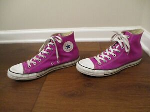 Used Size 11 Fit Like 11.5 - 12 Converse Chuck Taylor All Star High Shoes Purple