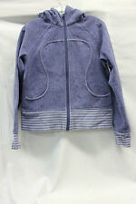 Lululemon Womens Purple Scuba Words All Over Size 10 Excellent Used Cond 1625