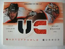 2002 UPPER DECK CHALLENGE FOR THE CUP UNSTOPPABLE COMBOS LeCLAIR & BOUCHER B 52