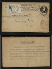 Great Britain registered envelope field post office1917