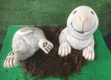 Pop Up Mole And Bottom - Garden Ornament  - Hand Cast