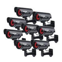 8 lot Bullet Black Home Security Fake Dummy Camera With 30 Illuminating LEDs