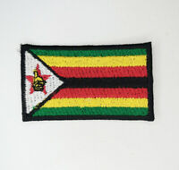 Zimbabwe National Country Flag Iron Sew on Embroidered Patch