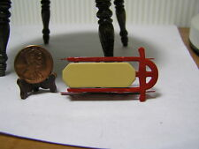 """Miniature Dollhouse Sled Flyer, 1/2"""" Scale or small 1"""" scale"""