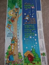 Growth Chart Panel Fabric Adventures of Tiny Teddy Cotton Panel Fabric