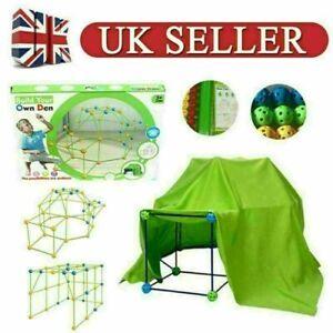 87Pcs Build Your Own Den Set Kit Present Children DIY Tent Gift Exercise Skills