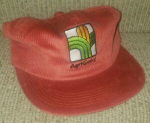Vintage K-Brand Corduroy AgriGold Seed & Feed Baseball Hat Cap Snapback USA