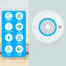 WIFI APP Fire Smoke Temperature Sensor Smart 2 in 1 Wireless Smoke Temperature