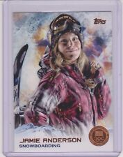 2014 TOPPS OLYMPIC JAMIE ANDERSON BRONZE CARD #4 ~ SNOWBOARDING ~ QTY